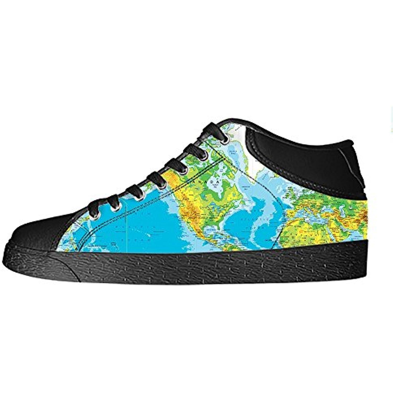 Custom Mappa del mondo Women's delle Canvas shoes I lacci delle Women's scarpe scarpe scarpe da ginnastica Blto tetto  Parent dabb5c