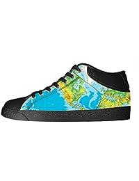 Custom Weltkarte Men's Canvas shoes Schuhe Lace-up High-top Sneakers Segeltuchschuhe Leinwand-Schuh-Turnschuhe