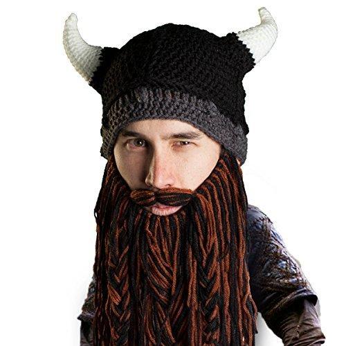 Beard Head Bartmütze – Plünderer Wikingerhelm – Lustige -