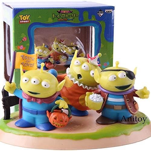 IchibanKuji Toy Story Trick-OR-Toys!C Award Fannie Kostüm Alien PVC Action Figure Sammeln Modell Spielzeug Geschenk 3 - Toy Story Aliens Kostüm
