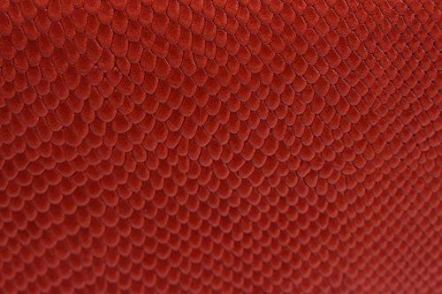 Serpente Patterned reale cuoio Croce borsa corpo con fibbia di chiusura e tracolla regolabile arancione and nero Snake Stampare