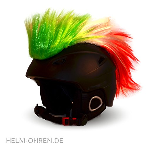 Helm-Irokese für den Skihelm, Snowboardhelm, Kinderskihelm, Kinderhelm, Motorradhelm, Fahrradhelm - Punk Fan Irokese für Kinder und Erwachsene Helmcover HELMDEKO...