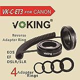 ARBUYSHOP Voking VK-C-ET3 enfoque automático AF Tubo macro Extensión inversa lente anillo adaptador EF / EF-S para Canon 70d 5d mark ii 6d 40d 60d 600d