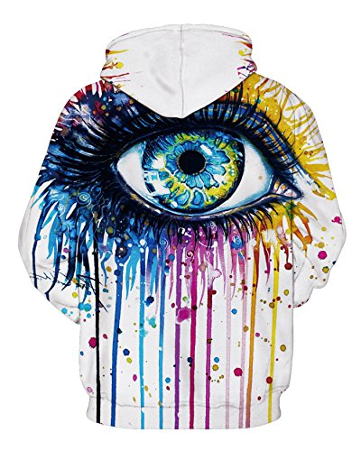YuanYan Damen Herbst 3D Druck Motiv Pullover Kapuzenpullover Hoodie Kaputzen Pullover Sweatshirt Hooded Sweat mit Muster W089