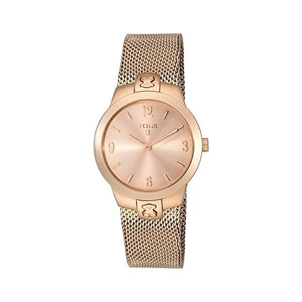 Reloj Tous Tmesh small de acero IP rosado Ref:400350995 Caja 31 mm