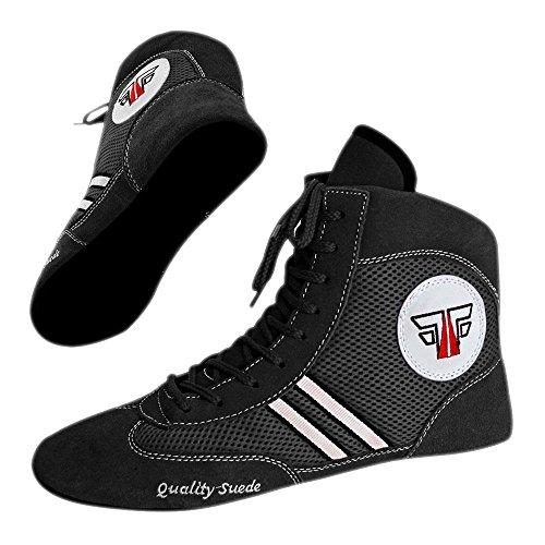 Fox-Fight Sambo Scarpe Quality Pelle Scamosciata Ringer di scarpe Wrestling scarpa da ring Nero – Blu – Rosso nero