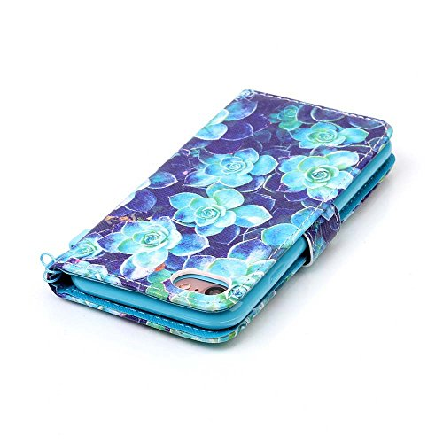 C-Super Mall-UK Apple iPhone 5 / 5S / SE hülle, Qualität PU-Leder Brieftasche Stehen Flip hülle für Apple iPhone 5 / 5S / SE Multi Begonia