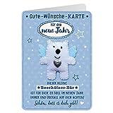Sheepworld - 90485 - Klappkarte, mit Umschlag, Gute Wünsche Karte, Nr. 42, Für das neue Jahr