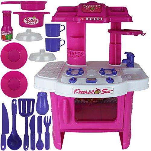TW24 Kinderspielküche - Kinderküche - Spielküche mit Licht und Sound