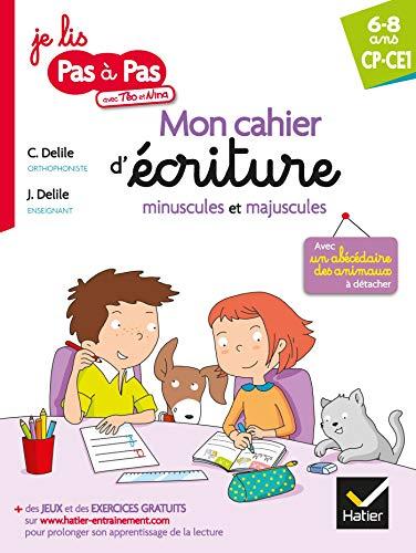 Mon cahier d'écriture minuscules et majuscules par Clémentine Delile