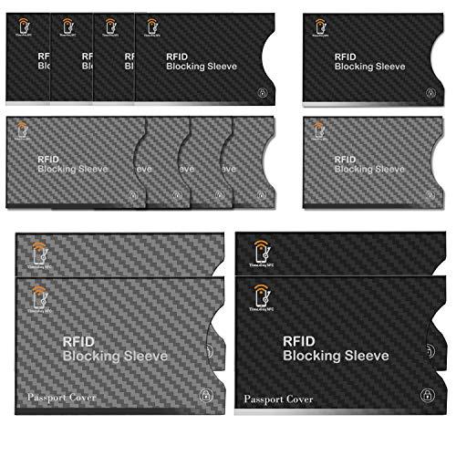 Bloqueo RFID,TimesKey 14 Piezas Tarjeteros Para Tarjetas