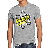 CottonCloud Sheldon Atom Herren T-Shirt, Größe:XL;Farbe:Grau meliert