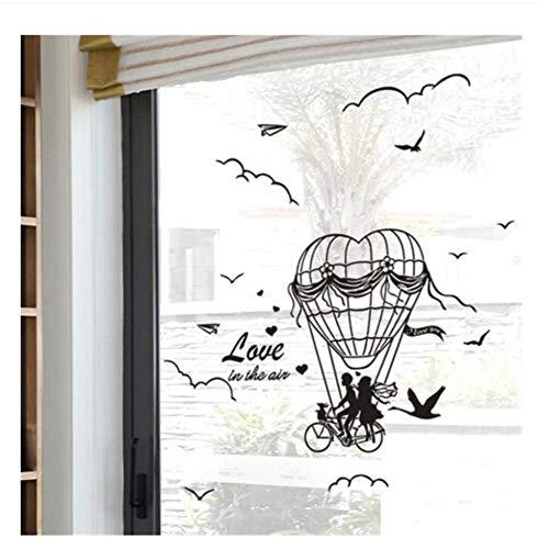 teBallon Wandaufkleber Vinyl Diy Liebhaber Vögel Bike Wandkunst Für Wohnzimmer Schlafzimmer Decoration40X80Cm ()