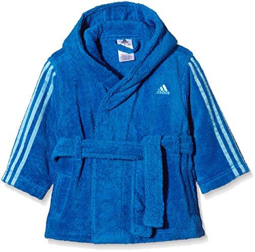 Blauer Kinder Bademantel (adidas Jungen Bademantel 3-Stripes3STR BATHR K, Blau, 128, 4056562717012)