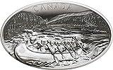 Power Coin Voyageurs Reisende Konkav Gestalten 1 Kg Kilo Silber Münze 250$ Canada 2018
