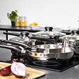 Morphy Richards Equip 5 Piece Pan Set - Stainless Steel