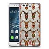 Head Case Designs Rentiere Weihnachten Abbildungen Soft Gel Hülle für Huawei P9