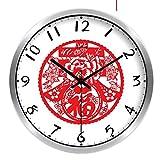 GJY-Orologio silenzioso classico cinese / orologio al quarzo cinese / orologio da parete cinese di arte di moda,B,14inch