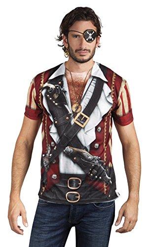 erdbeerloft - Herren Kostüm Shirt / Hemd Pirat, Mehrfarbig, Größe M