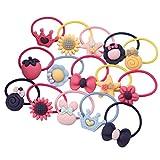 Frcolor Cartoon Haargummi Seile Bands Pferdeschwanz Inhaber für Kinder Baby Mädchen, Pack von 25 (zufällige Farbe)
