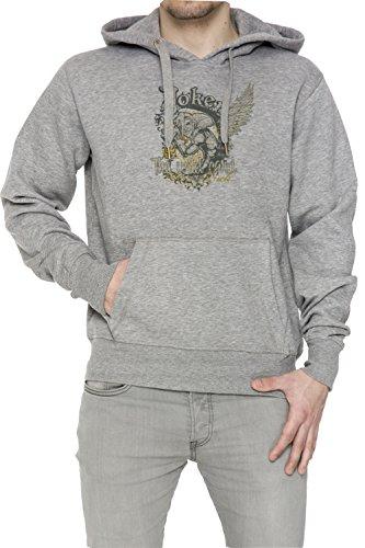 Joker The Wild Card Uomo Grigio Felpa Felpa Con Cappuccio Pullover Grey Men's Sweatshirt Pullover Hoodie
