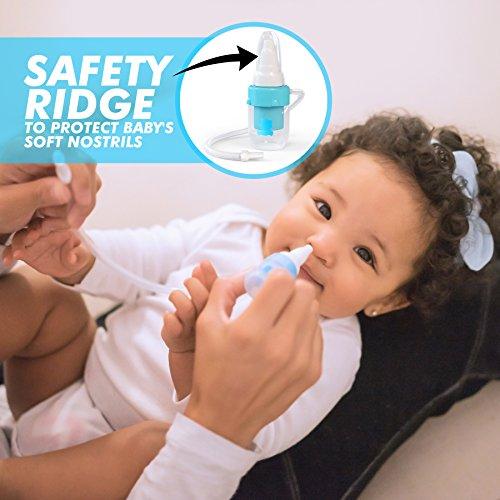 Premium Nasensauger für Baby, weiches Silikon, nicht reizend Spitze, waschbar und wiederverwendbar, keine Filter notwendig, Hospital Grade Snot Sucker für Baby Nase Verstopfung. - 3
