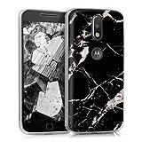 kwmobile Motorola Moto G4 / Moto G4 Plus Hülle - Handyhülle für Motorola Moto G4 / Moto G4 Plus - Handy Case in Schwarz Weiß