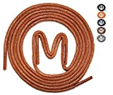 MEVID | 3 PAAR | gewachste Schnürsenkel, Rundsenkel in hoher Qualität aus 100% Baumwolle, Ø 2,5mm, Länge 60-105cm