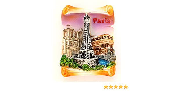 magnet aimant de frigo cuisine souvenir de France Paris cadeaux Monuments Parchemin 6,5 x 5 cm MG37-V