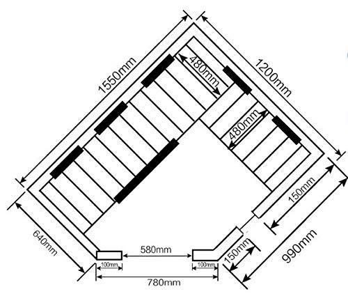 Home Deluxe – Infrarotkabine – Redsun XL - 7