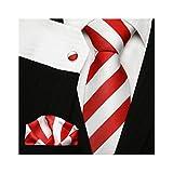 Ties N Such Herren Krawatte Mehrfarbig mehrfarbig onesize Gr. onesize, weiß/rot
