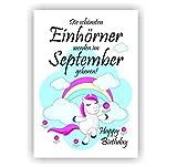 Urkunde Fest Geburtstag Liebe Geschenk Bild Happy Birthday Einhorn September
