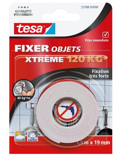 Tesa 55788-00000-00 Fixer Objets Xtreme 120 kg 1,5 m x 19 mm