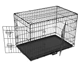 Maxx Cage de Transport Pliable pour Chiens 107 x 71 x 76cm, Chats, Chiots, Chatons et Animaux Domestique, en métal, Cage Chien, Pliable, Caisse de Transport pour la Voiture, 2 Portes