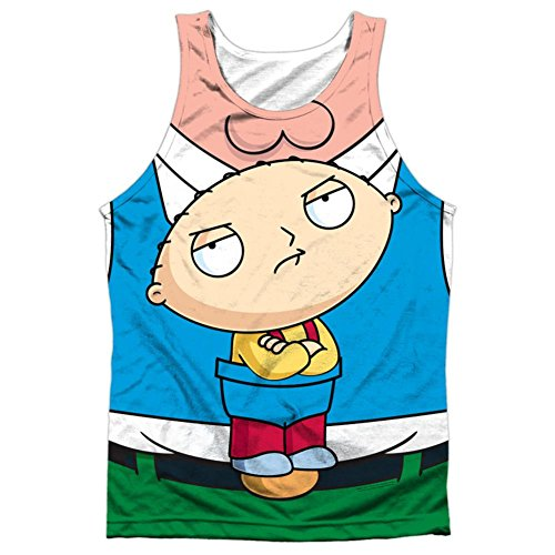 Family Guy Erwachsene TV-Show Stewie Carrier Kostüm Front Print Tank Top Shirt (Top Guy Kostüm)