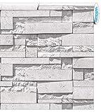 ARTESIVE ST-03 Moderner Stein Weiß 50 cm x 2,5 mt. - Klebefilm