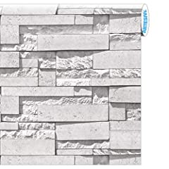 Idea Regalo - Artesive ST-03 Pietra Modern White larg. 50 cm x 2,5 mt. Pellicola Adesiva