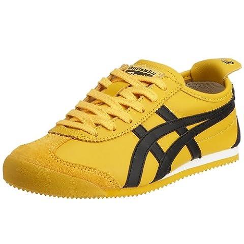 Onistuka Tiger Mexico 66, Chaussures de trail mixte adulte, Jaune (0490-Yellow/Black), 46 EU 10.5 UK