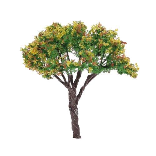 25pcs-vert-jaune-orange-paysage-paysage-modele-fleur-arbres-65cm