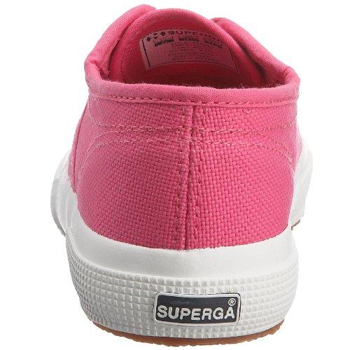 Superga 2750-Jcot Classic, Sneaker Unisex - Bambini, Bianco 18 Rosa (A30 Fuxia)