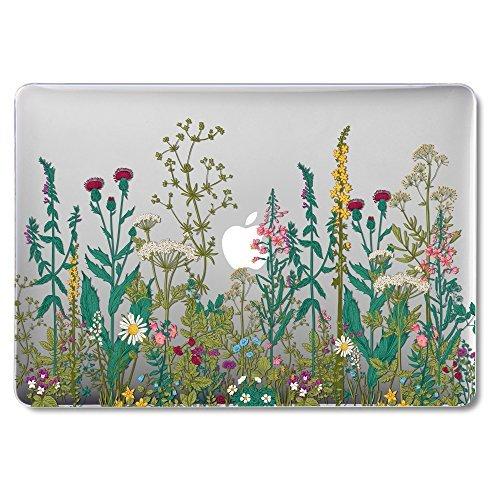 GMYLE [Quantum Light Case] [Neue Version] ultradünne kratzfeste Hülle für Macbook Pro 13 Zoll mit Retina Display (Modell: A1425 und A1502) - Garten Blume