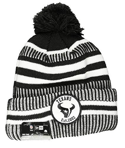 New Era NFL Houston Texans Authentic 2019 Sideline Home Black Sport Knit Wintermütze