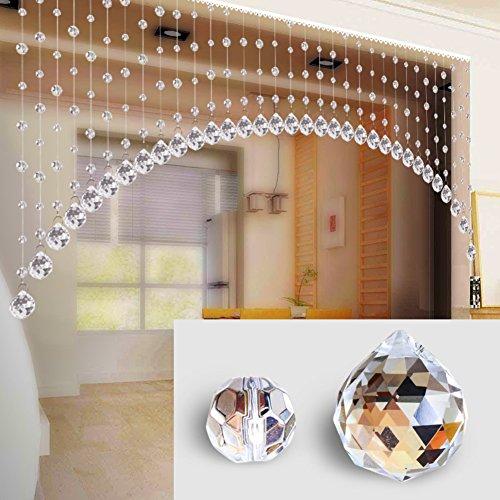 Cortina de cuentas de cristal de forma del arco,Panel de cortina de cadena brillo Banderas del festival-B