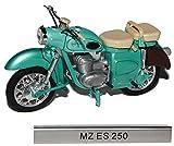 MZ ES 250 Grün DDR Atlas Collection 1/24 Modellcarsonline Modell Motorrad mit individiuellem Wunschkennzeichen