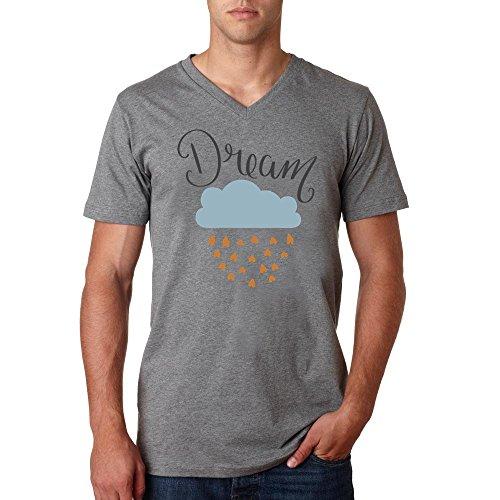 Dream beautiful cloud logo dope Herren baumvolle V-neck t-shirt Grau