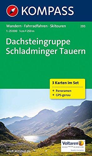 Dachsteingruppe - Schladminger Tauern: Wanderkarten-Set mit Panorama, Radrouten und Skitouren. GPS-genau. 1:25000 (KOMPASS-Wanderkarten, Band 293)