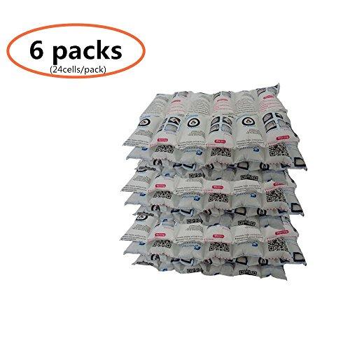 Ice Pack Sheets Kalte Decken Automatische Wasser absorbierende für Lebensmittel Frische und Getränke Kalt, wiederverwendbar, flexibel, ungiftig, 24 Zellen x 6 = 144 Large Each Slim Baby-flasche