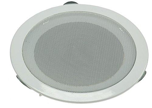 Decken- & Wand Einbaulautsprecher CTE-W Weiß Metallschutzgitter Halteklammern 8 Ohm Einfache Montage (Ø 179mm, 80 Watt, Weiss)