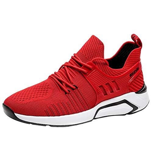 Herren Laufschuhe Leichte Gym Sneaker Sportschuhe Turnschuhe Klassische Freizeitschuhe Atmungsaktiv Fitness Schuhe beiläufige Netz Slip-Ons Sneakers für Männer TWBB