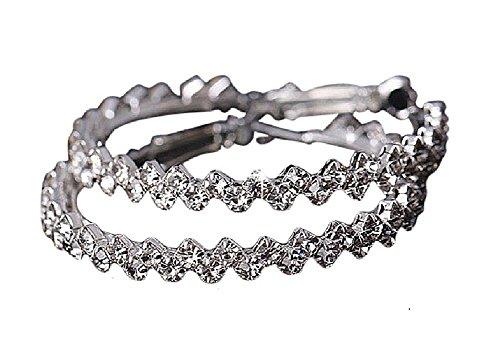 1 Paar große Strass Kristall Creolen Damen Ohrringe Ohrhänger Ohrschmuck Silber